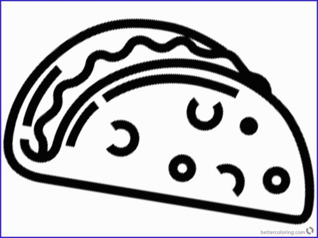 Wonderful Image of Taco Coloring Page | Coloring pages ...