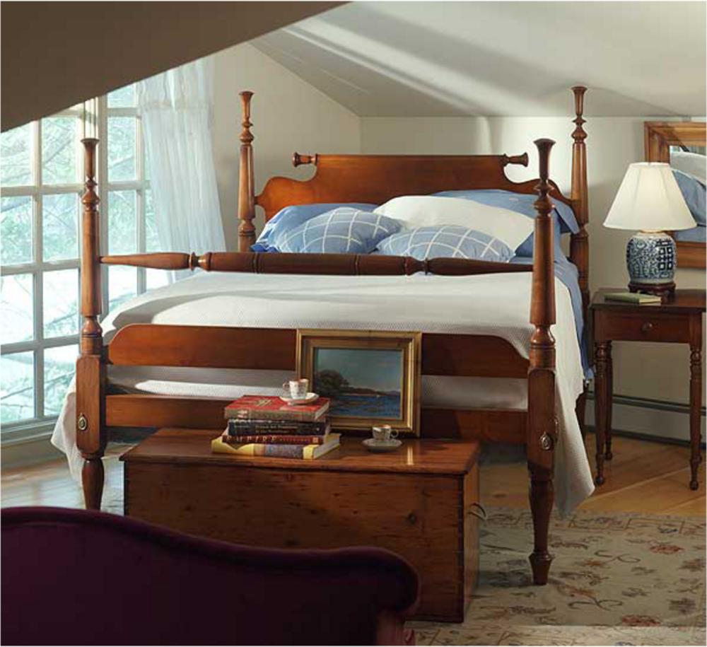Pennsylvania Tulip Top Lowpost Bed in 2020 Bed, Cool