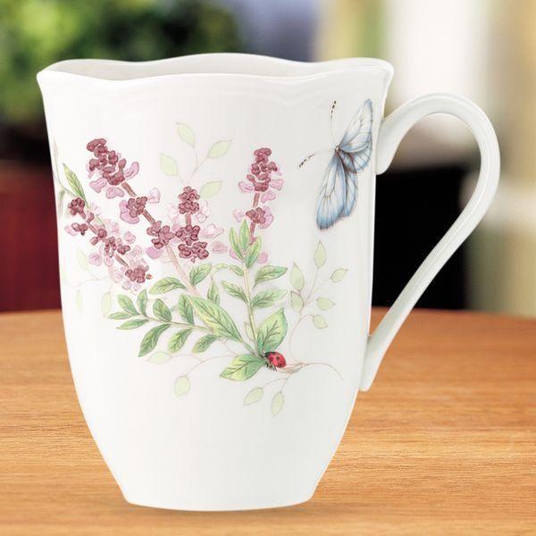 Lenox Erfly Meadow Herbs Mug Botanical China