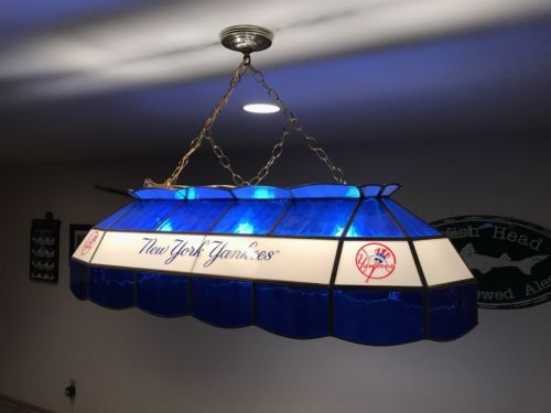 New York Yankees Mlb Stained Glass Pool Table Light Pool Table