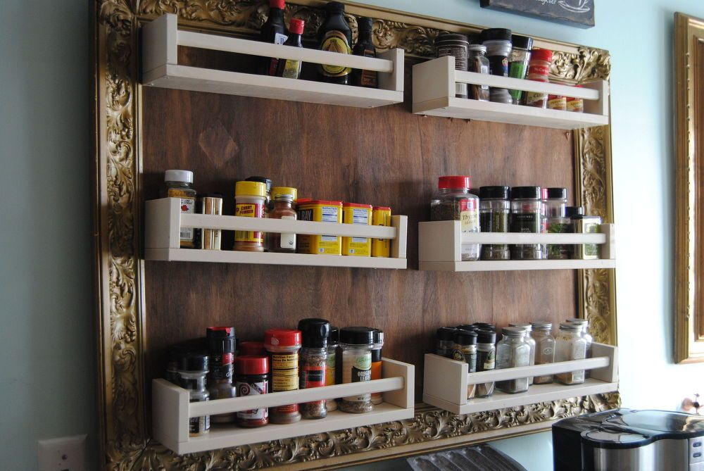 Ikea Hack Turn Spice Racks and a Large Frame Into Hanging Storage & Ikea Hack: Turn Spice Racks and a Large Frame Into Hanging Storage ...