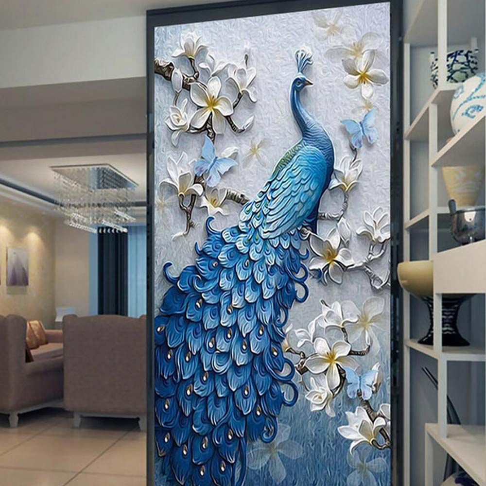3d embossed peacock bird flower hallway photo wallpaper murals 3d embossed peacock bird flower hallway photo wallpaper murals bedroom entrance photo wall mural wall paper amipublicfo Gallery