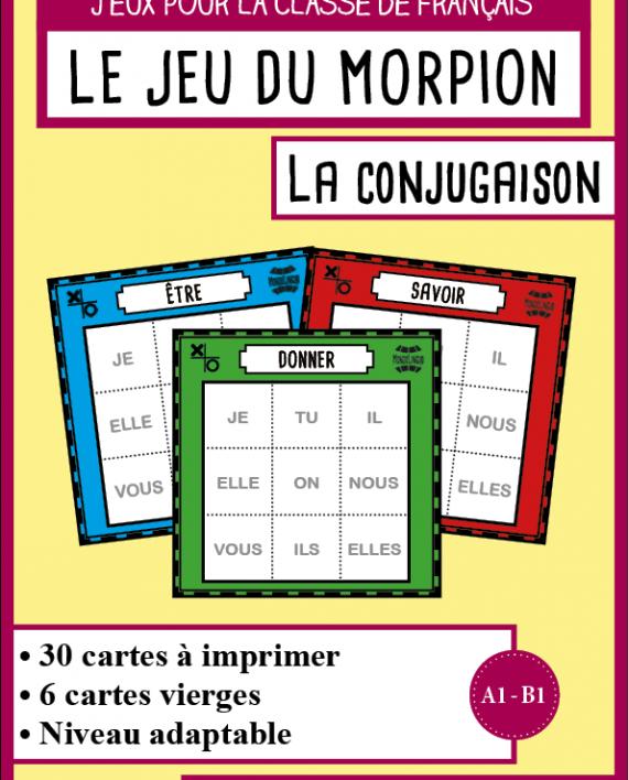 Jeu du morpion fle sur les conjugaisons jeux educatif - Grammaire ce1 a imprimer ...