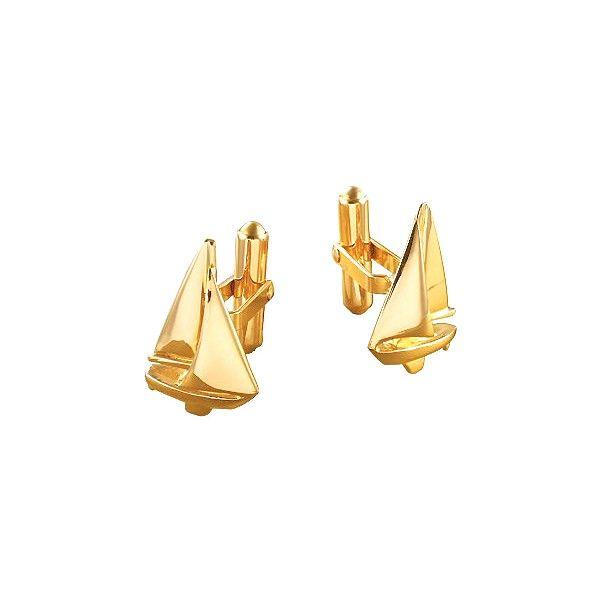 a211eb20a7114 Men Sailboat Gold Cufflinks via Polyvore featuring men's fashion ...