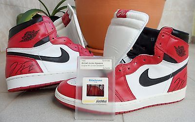 wholesale dealer 16086 e9e62 SIGNED NIKE AIR JORDAN 1 OG 1994 III IV V VI VII X XI I 1985 ...