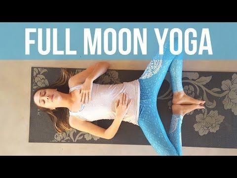 moon salutations flow  40 min free yoga class  moon