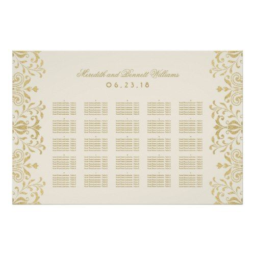 seating chart poster