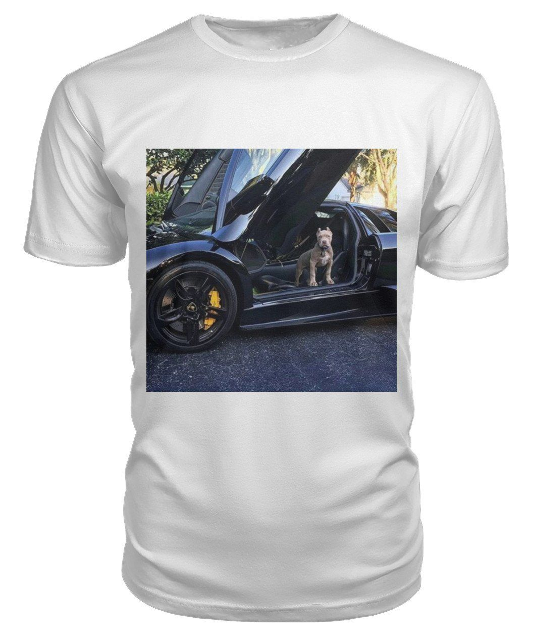 light grey carstyle aventador shirt heathered lamborghini t skreened front image