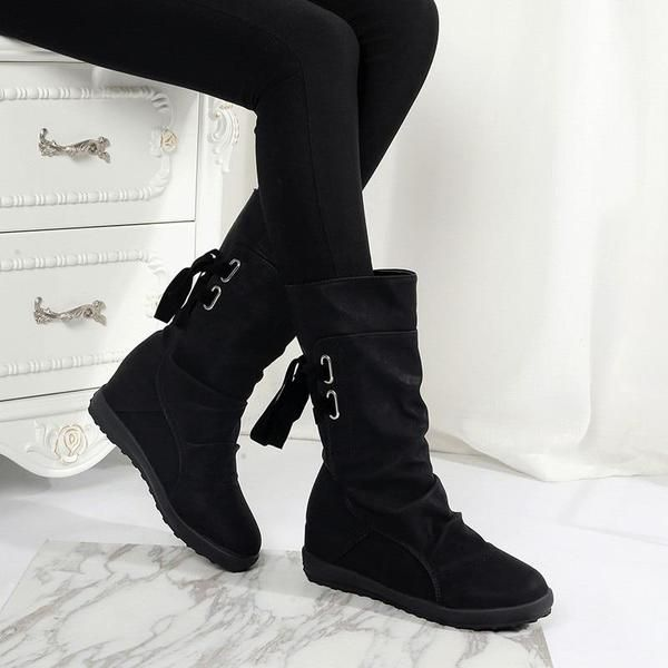 d1502302f260 Women Autumn Winter Snow Boots Flat Heels in 2019