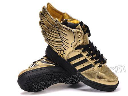 Adidas originali jeremy scott js ali d'oro nero natura