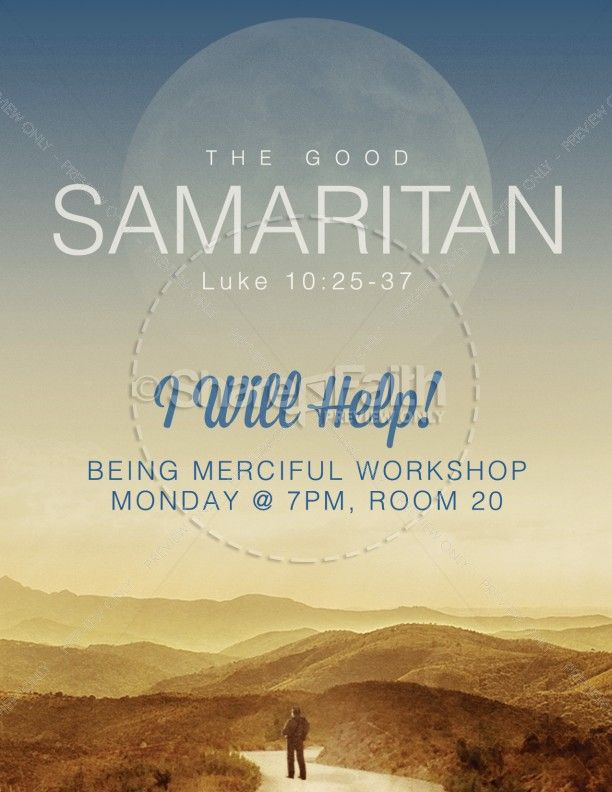 A Beautiful Good Samaritan Themed Church Flyer Template For Ms