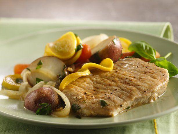 Slow Cooker Pork Chops with Vegetable Medley