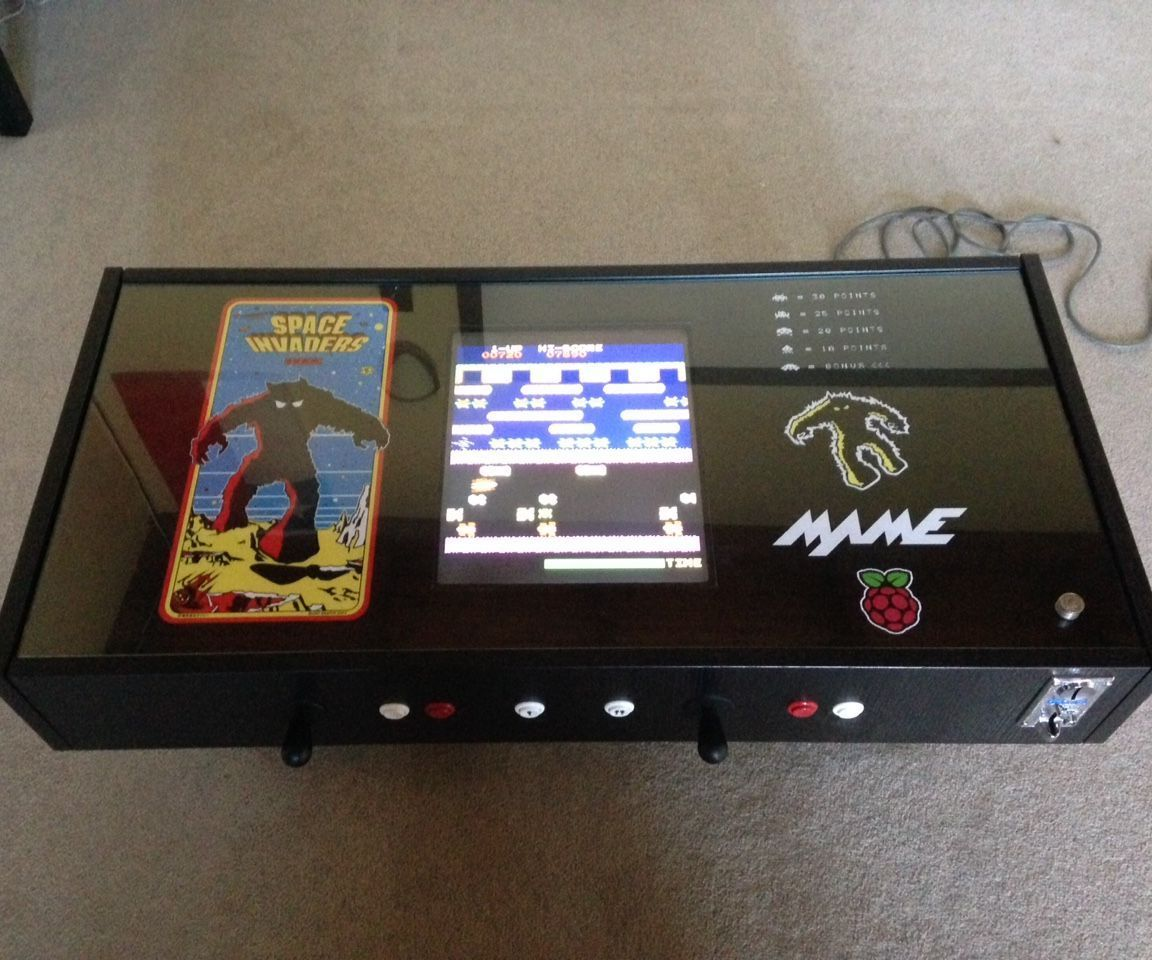 raspberry pi coffee table arcade | ikea coffee table, space