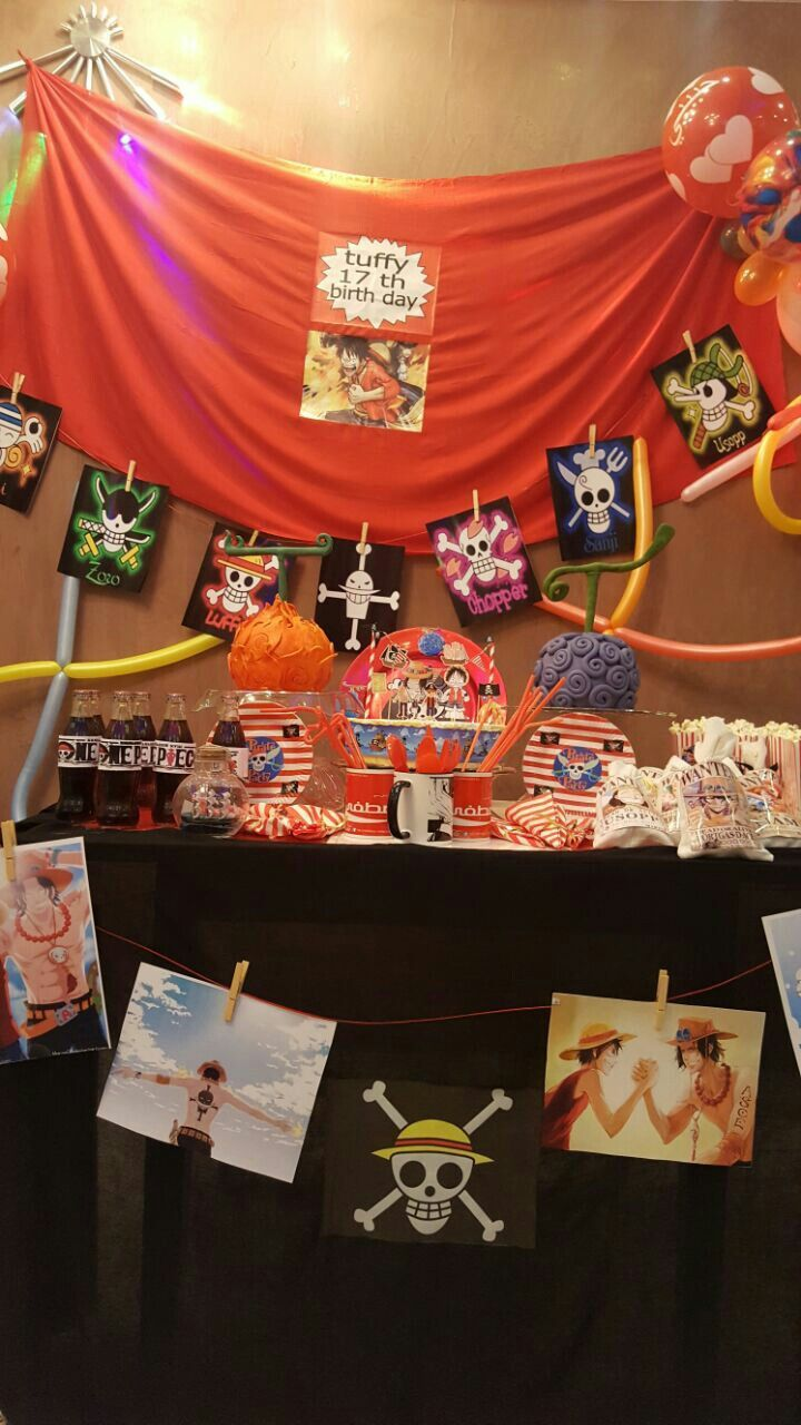 Ace And Luffy Birthday Party One Piece Birthday Party Theme One