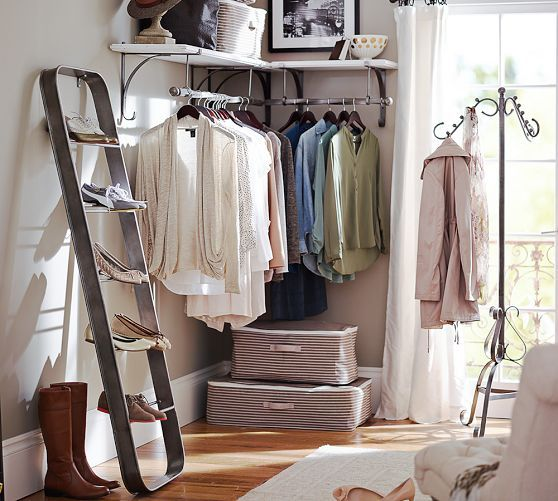 Elegant New York Shelf U0026 Clothes Rack | Pottery Barn Love These For When You Donu0027