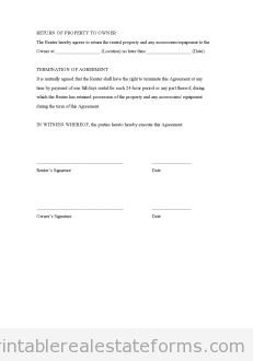 Free Rental Agreement Generic Printable Real Estate Document ...