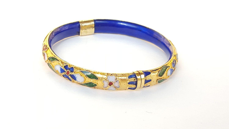 Cloisonn\u00e9 Bangle Bracelet