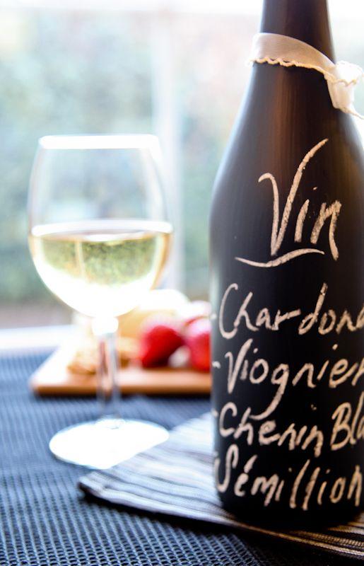 How to Make a Wine Bottle Chalkboard Menu
