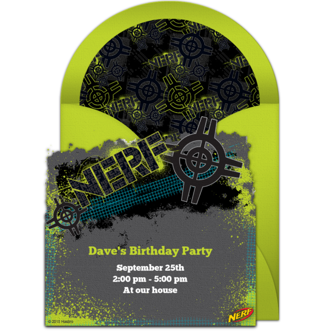 Free nerf target invitations nerf birthday party birthdays and free birthday party invitation with a nerf target design love this design for a fun nerf birthday party filmwisefo Choice Image