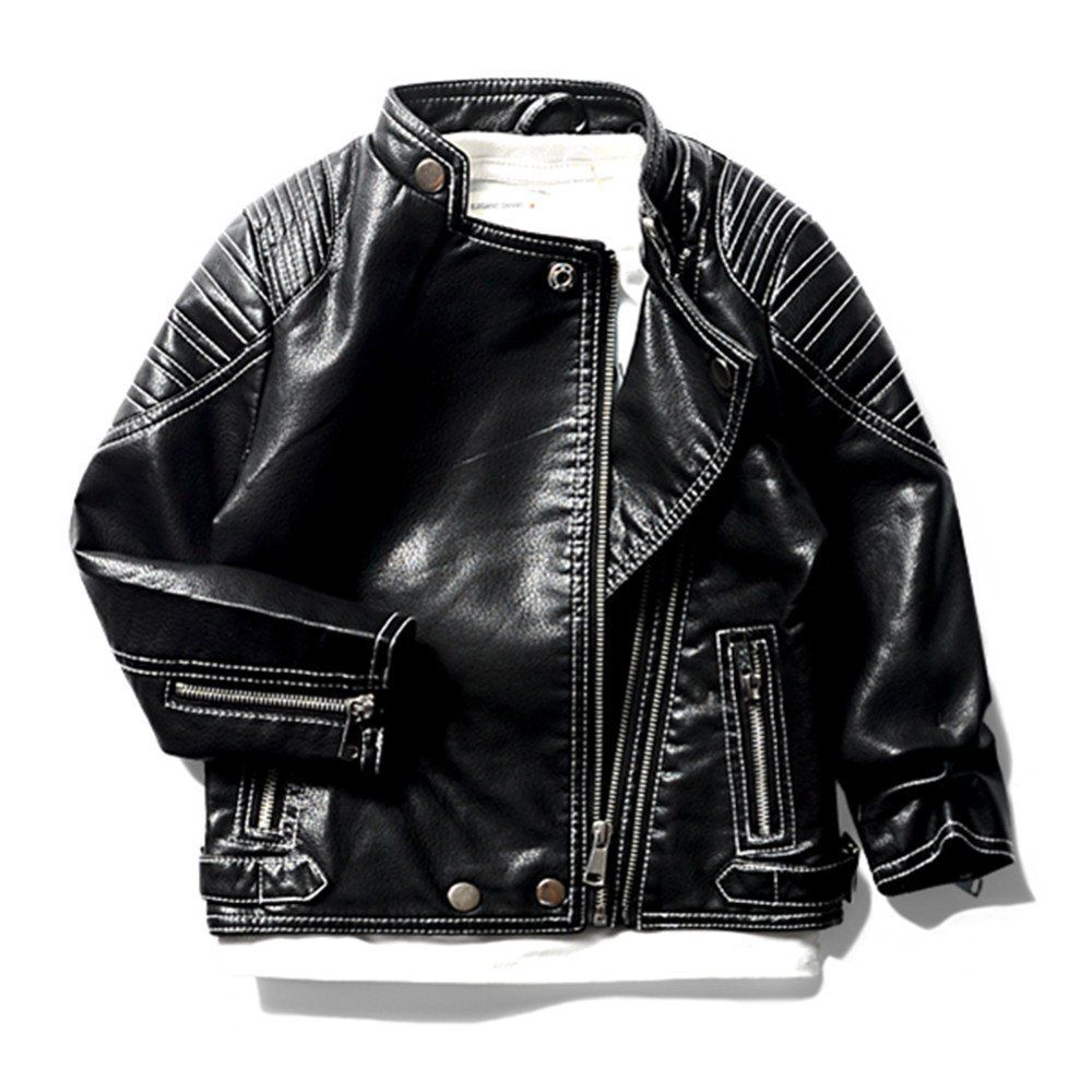b905047e400d LJYH Spring and Autumn Boys Motorcycle PU Leather children s flight ...
