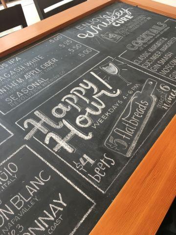 Lyfe Kitchen Chalkboard Cocktail Menu Restaurant Chalkboard