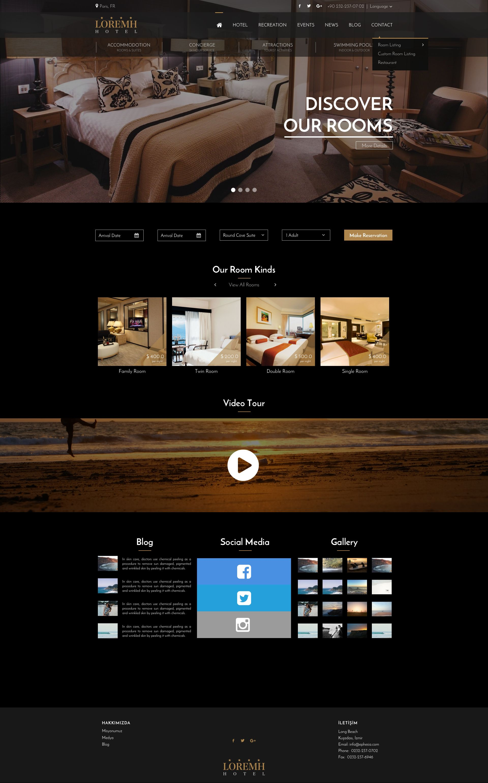 Black Gold Hotel Website Template Sketch Design Hotel Website