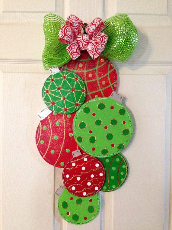 CHRISTMAS DOOR HANGER, Ornament Door Hanger , Christmas Wreath/Wall