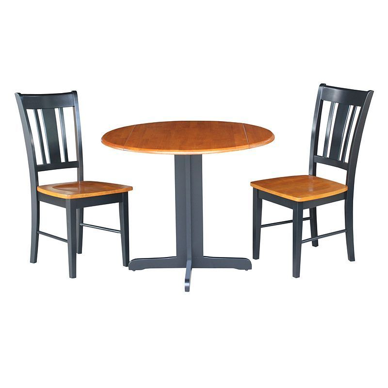 3Piece Twotone Dining Set Brown  Dining And Products Interesting 3 Piece Kitchen Table Set Decorating Design