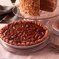 Pumpkin Pie with Pecan-Caramel Topping