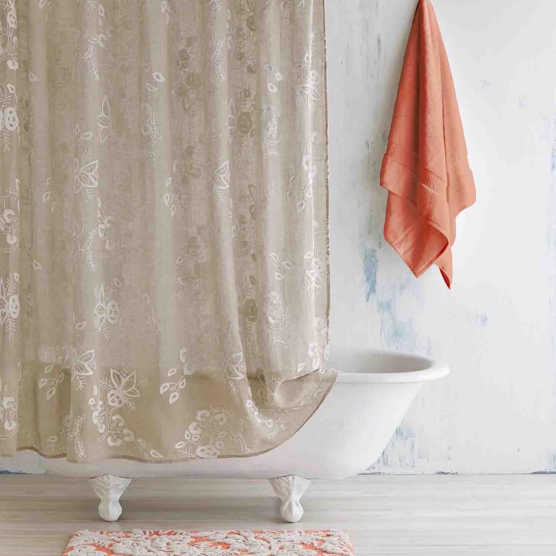 Ivory Linen Pasak Shower Curtain