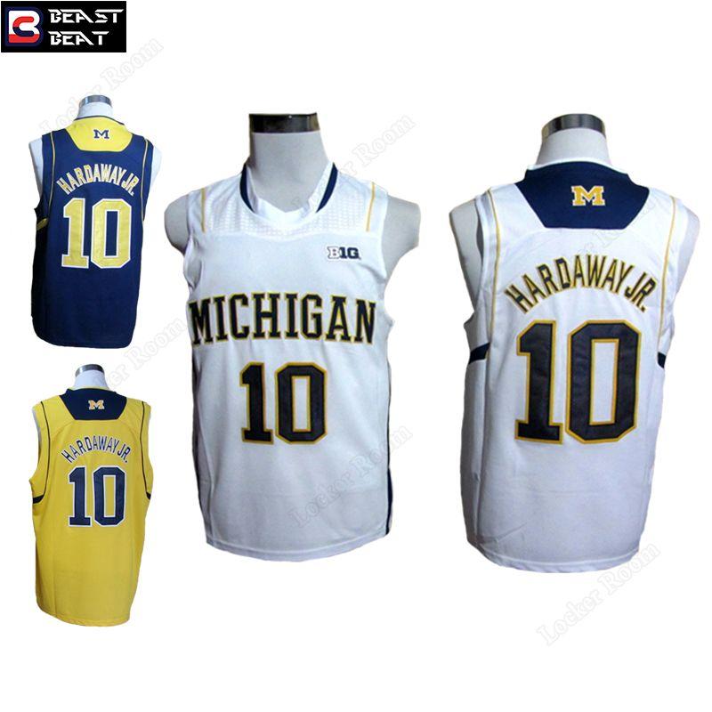 premium selection 469bd 9b5df Hardaway JR. #10 Michigan State Basketball Jerseys Throwback ...