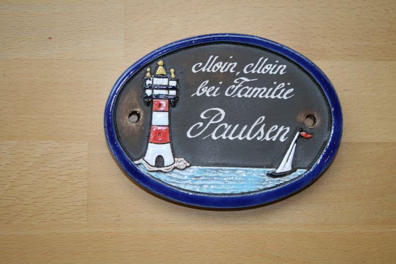 Tür- & Namensschilder - Keramikschild kleiner Leuchturm  - ein Designerstück von KeramikBottke bei DaWanda