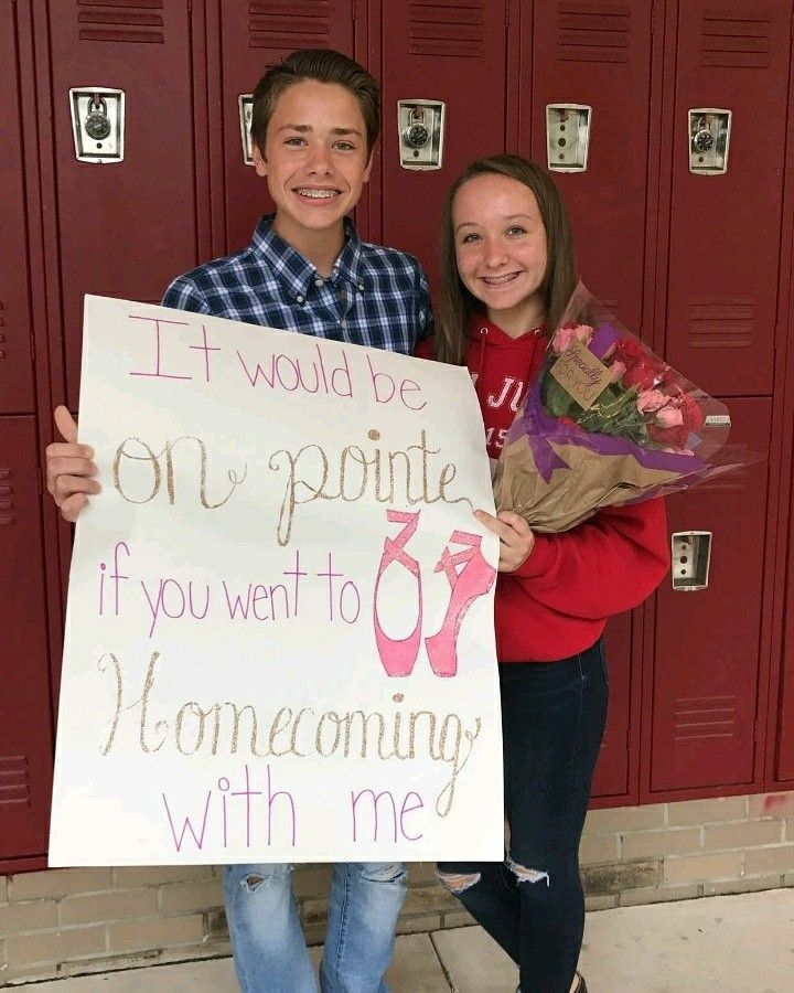 Dance Themed Homecoming Proposal.