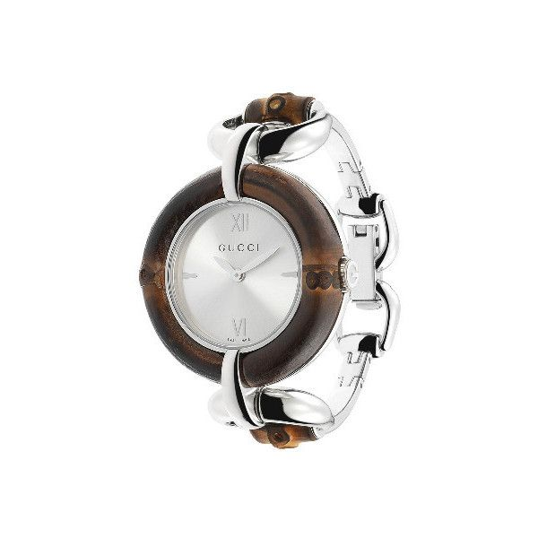 2d48138fc03 GUCCI Bamboo Collection Watch with Silver Dial