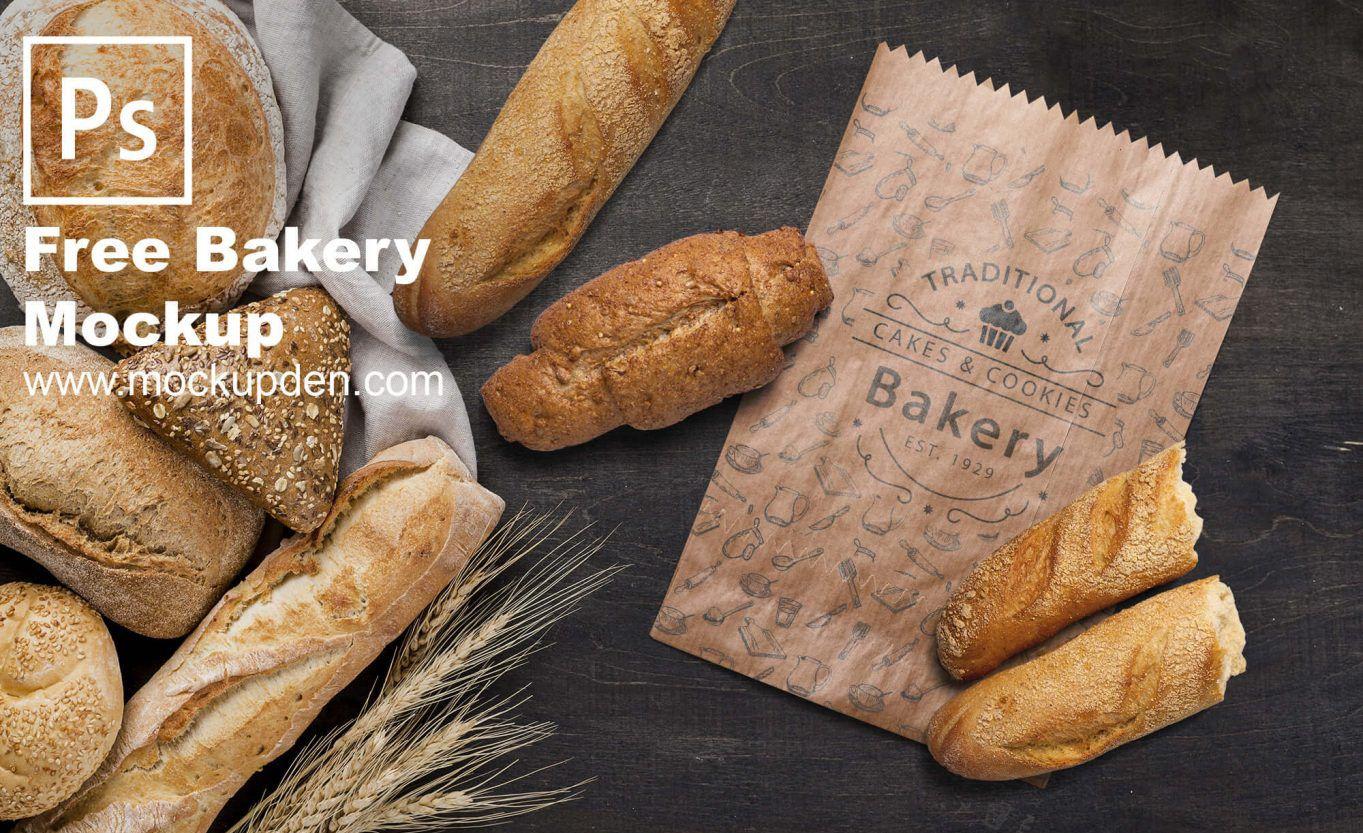 Download Bakery Paper Bag Free Psd Mockup Bakery Mockup Bakery Branding Mockup Free Psd