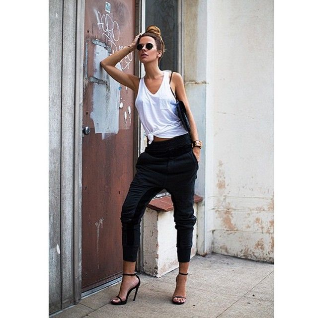 """""""She does it SO well! We salute you @thenativefox Get the Look 1.Luxe Trainers 2. Rebel Tank ..That is all. #empirerose #fashion #designer #australian…"""""""