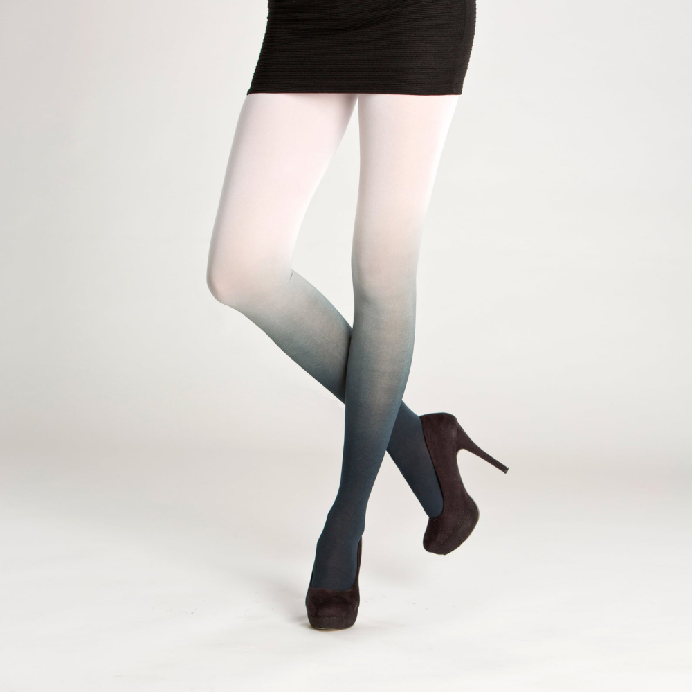 Blackwhite ombre tights Cat paw tights cosplay tights