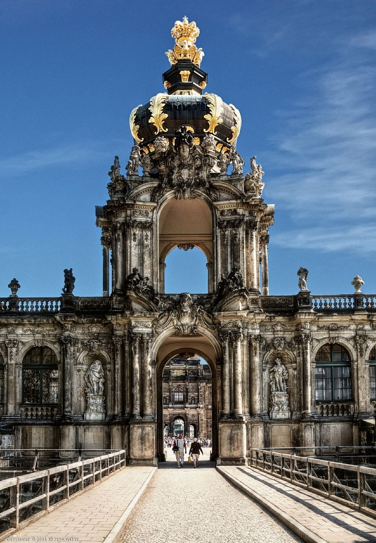 Crown Gate Of The Zwinger Dresden Dresden Germany Germany