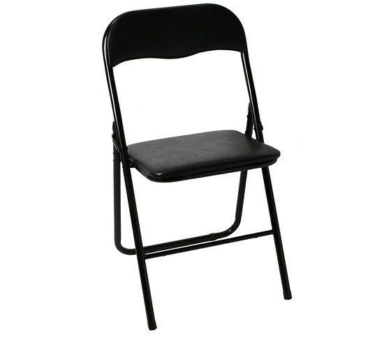 Chaise Pliante Evan Noire Chaise Pliante Chaise Pliable Chaise