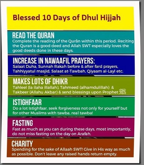 The Blessed 10 Days of Dhul Hijjah - Find out more http://hosted-p0.vresp.com/544016/02468dde83/ARCHIVE