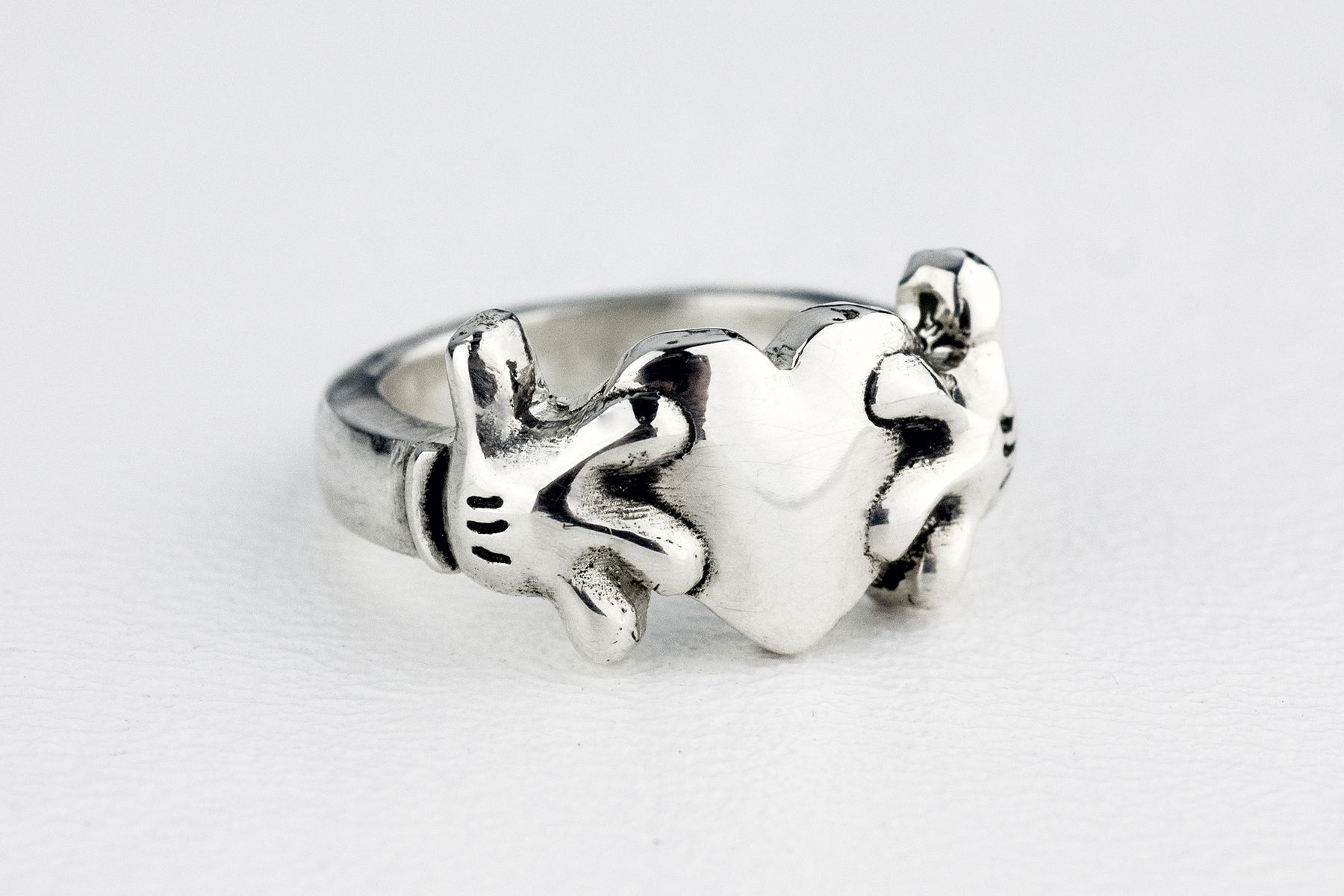 Mickey Mouse Heart Claddagh Inspired Ring