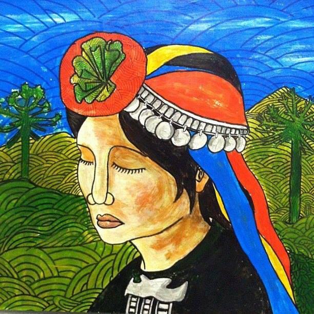 Ilustracion Rostros De Arte Arte Mapuche Arte De Ilustracion