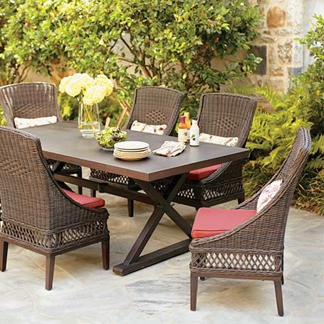Customize Your Patio Woodbury Collection The Home Depot Outdoor Wicker Patio Furniture Wicker Patio Furniture Sets Wicker Patio Furniture Set