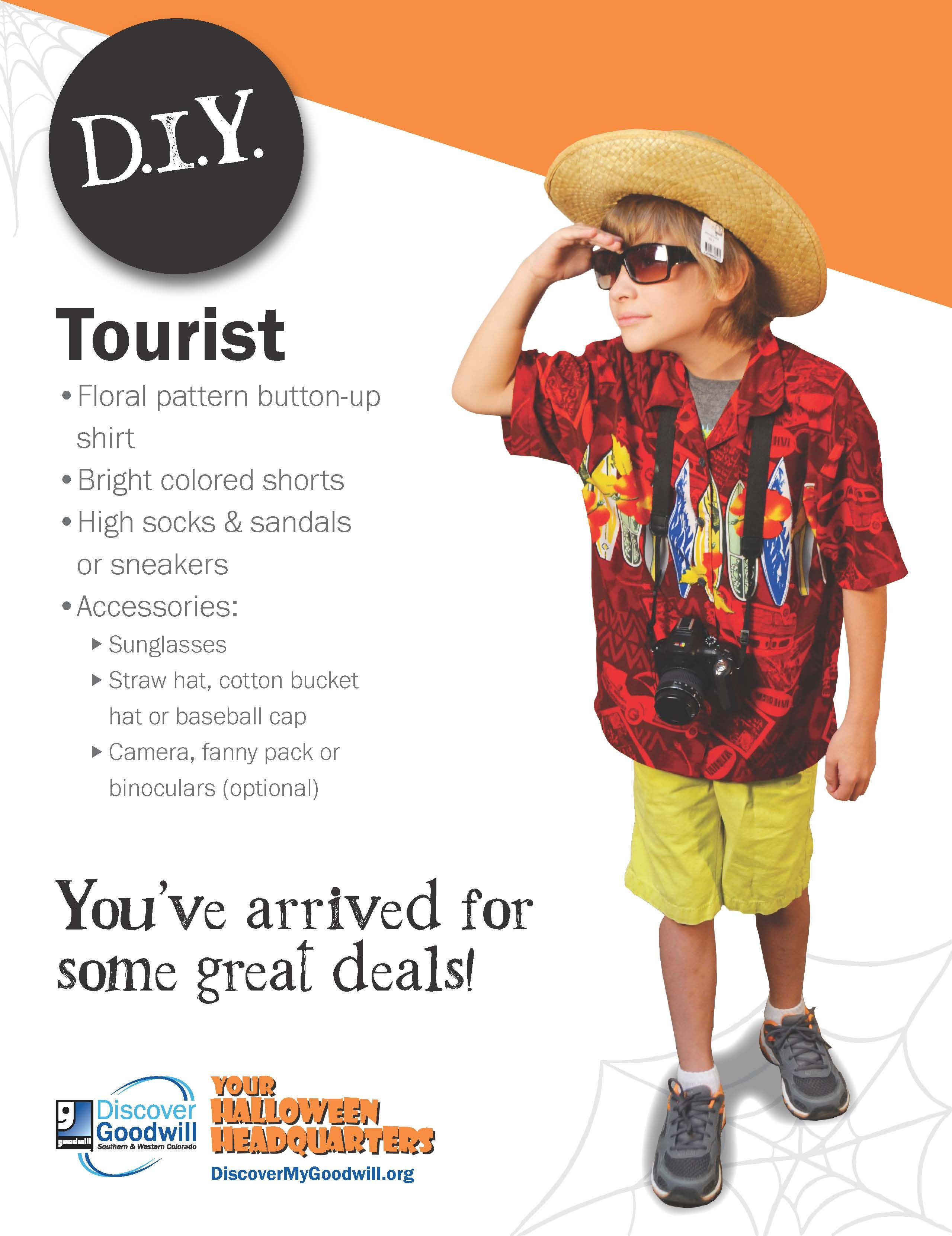 this tourist costume is perfect for all ages visit a discover