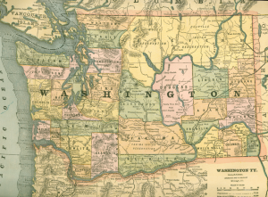 Map of Washington State from Cram s Unrivaled Atlas of the World