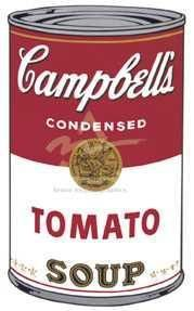 Campbell's Soup I (Tomato), 1968 - Andy Warhol