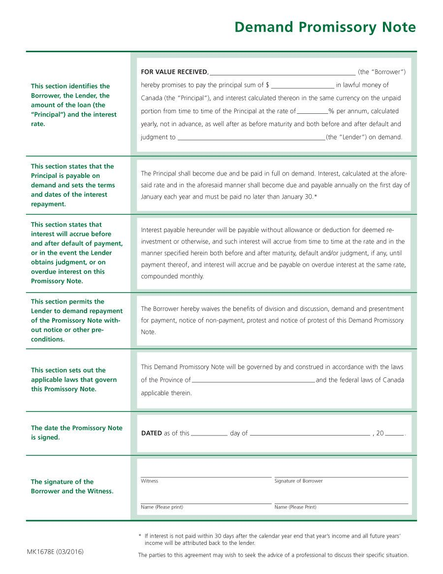 Download Promissory Note Template 11 Promissory Note Notes