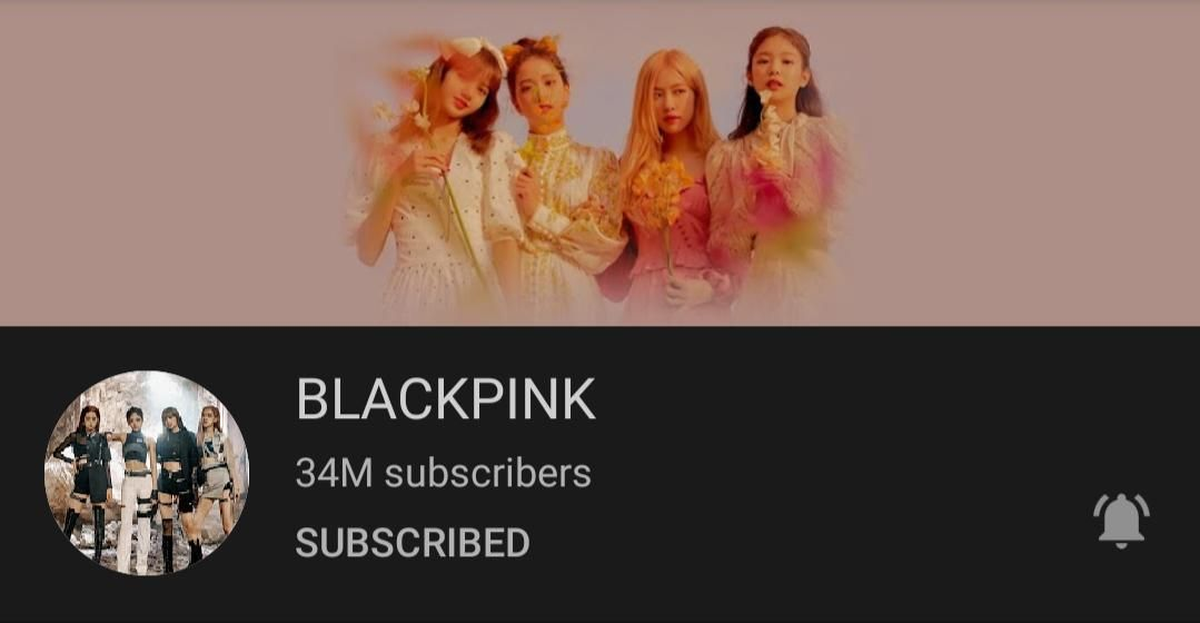 200327 BLACKPINK YouTube channel surpassed 34M subscribers.