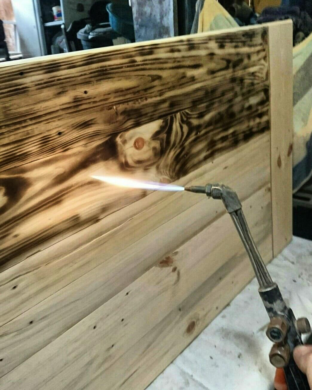 Burning Pallet Finishing Wood Furniture Interior Project Design Udhafurniture Burningsystemfinishingpalletp In 2020 Diy Home Bar Burnt Plywood Floor Wood Diy