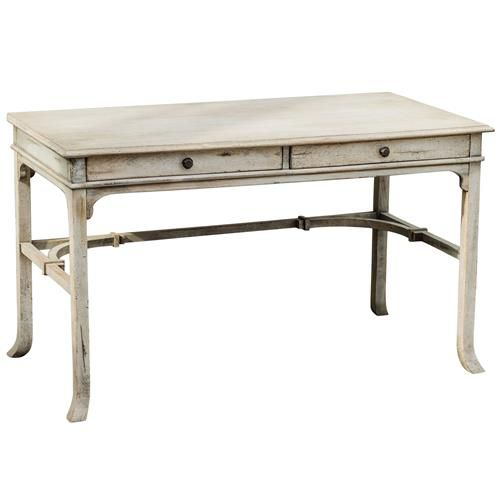 Candide French Country Antique White Wood Writing Desk Mango Wood Writing Desk Vintage Writing Desk Wood Writing Desk